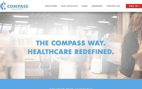 Screenshot of Jobs Page compassphs.com - Careers   Compass Professional Health Services - captured July 12, 2016