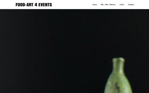 Screenshot of Home Page food-art4events.be - Food Art for Events - captured Sept. 30, 2014