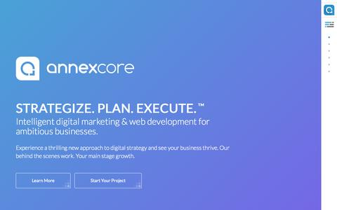 Screenshot of Home Page annexcore.com - Orange County Digital Marketing & Web Development Agency   AnnexCore - captured Oct. 5, 2015
