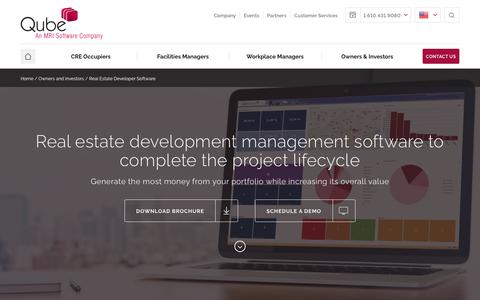Screenshot of Developers Page qubeglobal.com - Real Estate Development software for the entire project lifecycle - captured Feb. 14, 2018