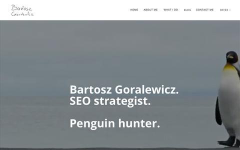 Screenshot of Home Page goralewicz.co - Bartosz Goralewicz - SEO consultant and online marketing specialist - captured Nov. 12, 2015