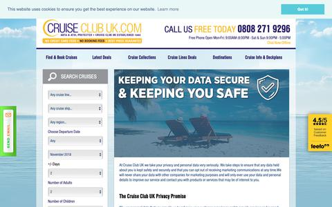 Screenshot of Privacy Page cruiseclubuk.com - Contact Us | Ask a Question | Cruise Club UK - captured Nov. 5, 2018