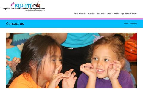 Screenshot of Contact Page kid-fit.com - KID-FIT Contact Us - captured Oct. 14, 2018