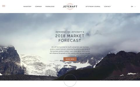 Screenshot of Home Page jetcraft.com - Aircraft Sales, Marketing and Ownership Strategies | Jetcraft - captured Nov. 6, 2018