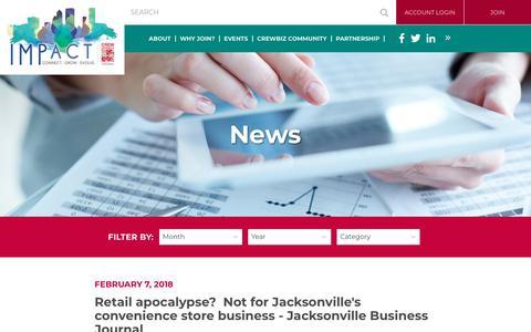 Screenshot of Press Page crewjax.org - CREW Jacksonville - News - captured Feb. 14, 2018