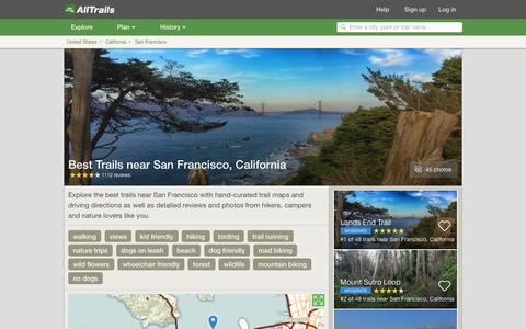 Screenshot of alltrails.com - Best Trails near San Francisco, California  | AllTrails.com - captured March 5, 2017