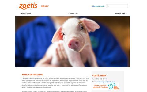 Screenshot of Home Page zoetis.com.uy - Uruguay   Zoetis UY - captured July 12, 2019