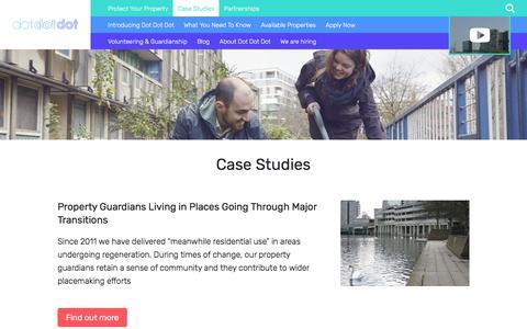 Screenshot of Case Studies Page dotdotdotproperty.com - Case Studies - Dot Dot Dot - captured Aug. 8, 2018