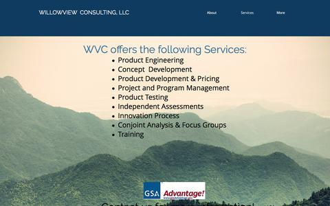 Screenshot of Services Page willowviewconsulting.com - willowview   Services - captured June 19, 2017