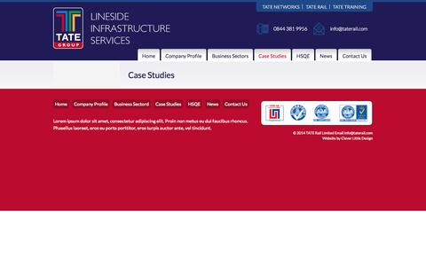 Screenshot of Case Studies Page tategroup.co.uk - Case Studies | TATE GroupTATE Group - captured Oct. 9, 2014