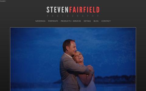 Screenshot of Home Page stevenfairfieldphotography.com - Maine Wedding Photographer | Steven Fairfield Photography - captured Jan. 30, 2015