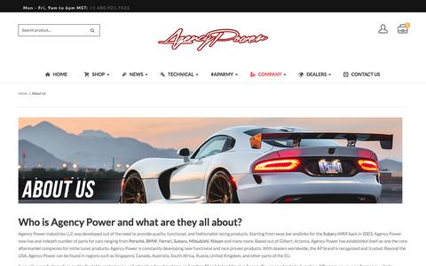Screenshot of About Page agency-power.com - Who is Agency Power and What Are They all About? - captured July 25, 2016