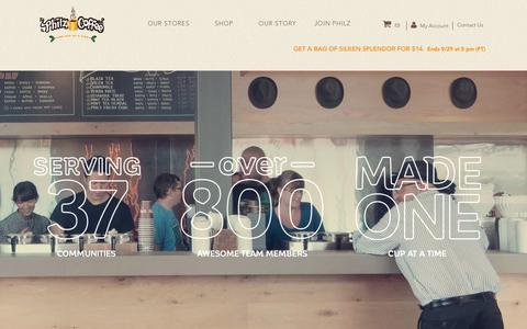 Screenshot of Locations Page philzcoffee.com - Our Stores - Coffee Shops | Philz Coffee - captured Sept. 1, 2017