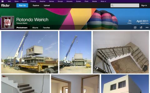 Screenshot of Flickr Page flickr.com - Flickr: Rotondo Weirich's Photostream - captured Oct. 26, 2014