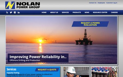 Screenshot of Home Page nolanpower.com - Nolan Power - We Sell Reliability - captured Oct. 18, 2018