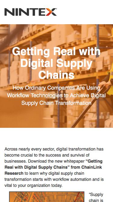 Getting Real with Digital Supply Chains