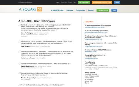 Screenshot of Testimonials Page alternative-alternatives.info - User Testimonials - Alternative Alternatives Database - captured May 25, 2016