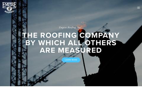 Screenshot of Home Page empireroofing.com - Empire Roofing - captured July 18, 2018