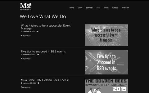 Screenshot of Blog mccorkell.com.au - M&a - captured Feb. 12, 2016