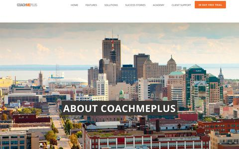 Screenshot of About Page coachmeplus.com - How it Works: Athlete Management System - CoachMePlus - captured Nov. 4, 2018
