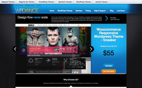 Screenshot of Home Page wpdance.com - WordPress Themes, WordPress Templates - captured Sept. 18, 2014