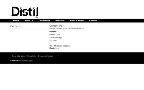 Screenshot of Contact Page distil.uk.com - Distil - Contact - captured Oct. 6, 2018