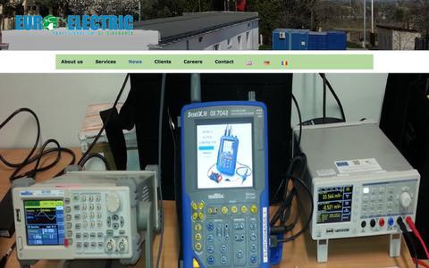 Screenshot of Press Page euroelectric.ro - News - Euroelectric - captured July 12, 2017