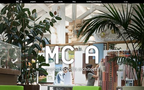 Screenshot of Home Page mcarchitects.it - Mario Cucinella Architects - captured Oct. 4, 2014