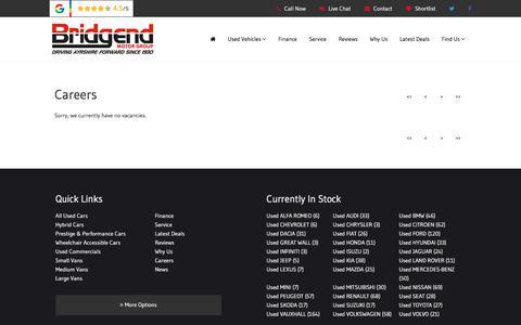 Screenshot of Jobs Page bridgendgroup.co.uk - Careers   Ayrshire, Glasgow, Scotland   Bridgend Motor Group - captured Aug. 3, 2018