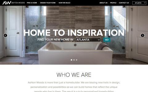 Screenshot of Home Page ashtonwoods.com - New Homes for Sale - Luxury Home Builders   Ashton Woods - captured Sept. 19, 2015