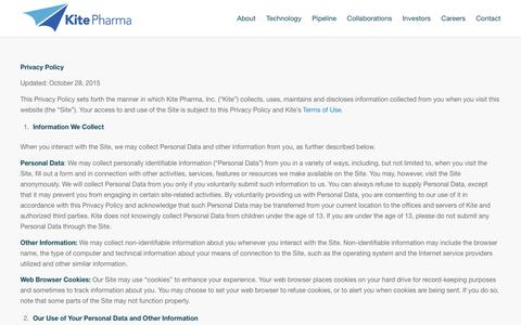 Privacy Policy - Kite Pharma