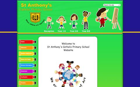 Screenshot of Home Page st-anthonys.lancs.sch.uk - St Anthony's Catholic Primary School : - captured Oct. 8, 2015