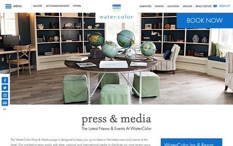 Screenshot of Press Page watercolorresort.com - Press & Media | WaterColor Inn & Resort | Santa Rosa Beach - captured Oct. 3, 2018