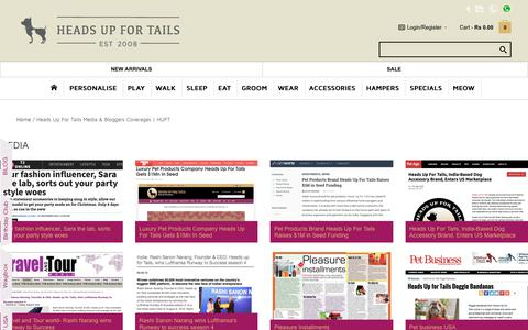 Screenshot of Press Page headsupfortails.com - Heads Up For Tails Media & Bloggers Coverages   HUFT - captured Jan. 29, 2018