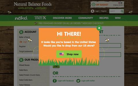 Screenshot of Login Page naturalbalancefoods.co.uk - Login - captured Oct. 20, 2015