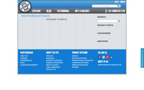 Screenshot of Blog packyoursack.com - PackYourSack - captured Sept. 27, 2014