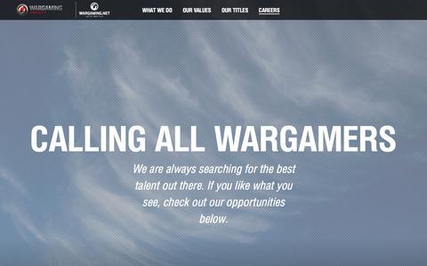 Screenshot of Jobs Page wargamingamerica.com - Wargaming America - captured Feb. 22, 2018