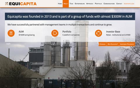 Screenshot of About Page equicapita.com - Overview - Equicapita - captured July 14, 2016