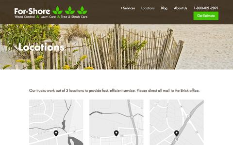 Screenshot of Locations Page for-shore.com - Locations — For-Shore - captured Oct. 6, 2014
