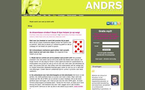 Screenshot of Blog droombaancoaching.nl - Blog - ANDRS Droombaancoaching - captured Oct. 7, 2017
