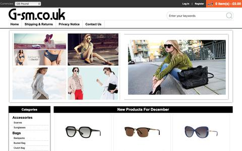 Screenshot of Home Page g-sm.co.uk - Womens Cheap Brand Clothes,Bags & Accessories Sale Online | Save Up To 50% Off! - captured Dec. 14, 2018