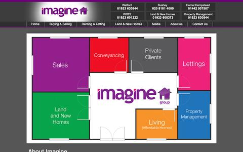 Screenshot of About Page imagine-group.co.uk - About Imagine & Lettings Estate Agents, Watford Garston Bushey & Hemel Hempstead - captured Oct. 11, 2018