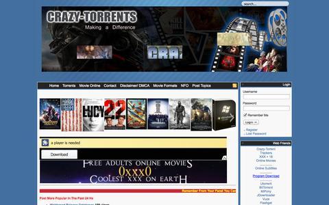 Screenshot of Home Page crazy-torrent.com - Crazy-Torrent.Com - captured Sept. 19, 2014