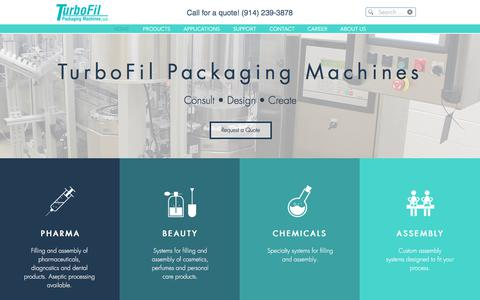 Screenshot of Home Page turbofil.com - TurboFil Packaging Machines - captured Nov. 3, 2017