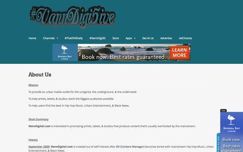 Screenshot of About Page vanndigital.com - About Us | VannDigital.com - captured Oct. 26, 2014