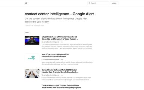 contact center intelligence – Google Alert