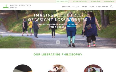 Screenshot of Home Page fitwoman.com - Weight Loss Retreat for Women | Green Mountain at Fox Run - captured Nov. 15, 2016