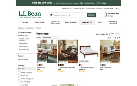 Furniture Collections | Indoor Furniture at L.L.Bean