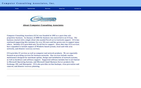Screenshot of About Page ccaidaho.com - Computer Consulting Associates - captured Jan. 30, 2016