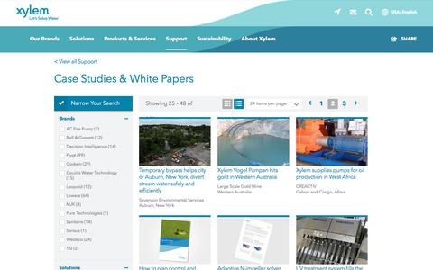 Screenshot of Case Studies Page xylem.com - Case Studies for Water and Wastewater Solutions   Xylem US - captured Nov. 9, 2019
